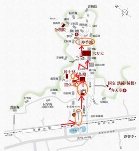 円覚寺:妙香池とモミジ