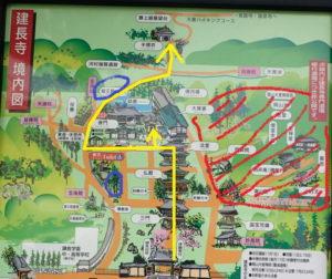 建長寺:紅葉と庭園の地図