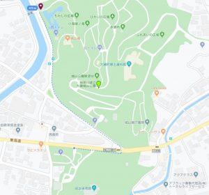 旧吉田茂邸駐車場から徒歩で行く「もみじ広場」行き方
