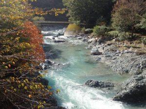 河内川:湯の沢橋より撮影