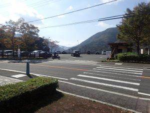 丹沢湖:駐車場入口