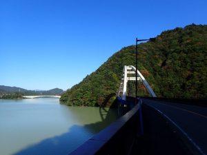 宮ヶ瀬ダムの紅葉:大棚沢橋