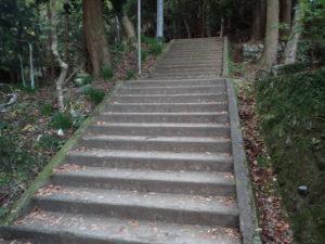 大山寺の紅葉:女坂の階段