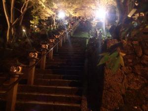 大山寺の紅葉:参道の階段からお勧め撮影ポイント