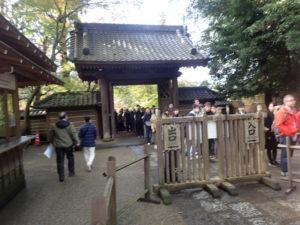 円覚寺:拝観料の混雑風景