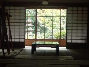 浄智寺:角窓 書院からの眺め 紅葉