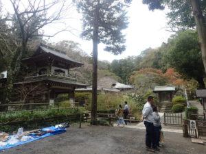 浄智寺:出口 鐘楼門と棟門と拝観入口