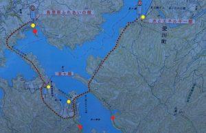 宮ヶ瀬湖:紅葉気になった場所マップ