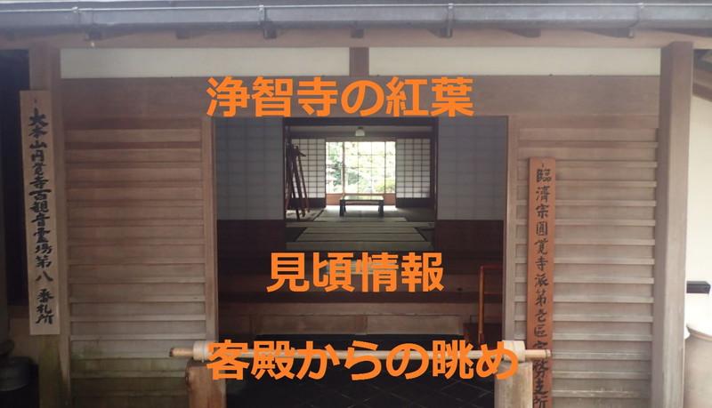 浄智寺の紅葉!見頃情報!客殿からの眺め!角窓(かくまど)