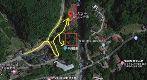中川温泉ぶなの湯までの道順と駐車場マップ