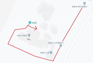 浄智寺:観光散策ルート地図