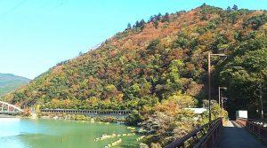 相模湖:相模嵐山の紅葉