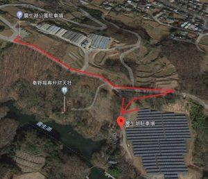 震生湖:オススメの紅葉ルート