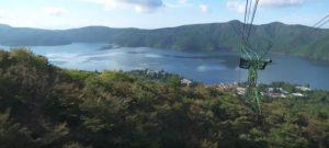 箱根駒ヶ岳ロープウェイ:芦ノ湖の様子