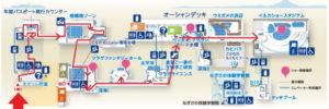 新江ノ島水族館:イルカショー会場までのマップ地図