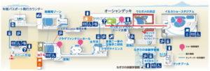 新江ノ島水族館:カピバラまでの地図