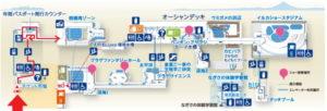 新江ノ島水族館:相模湾ゾーン2F地図マップ