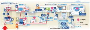 新江ノ島水族館:ペンギンプールまでの地図マップ