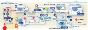 新江ノ島水族館:相模湾大水槽2Fからの地図