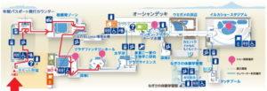 新江ノ島水族館:クラゲファンタジーホールまでのマップ地図