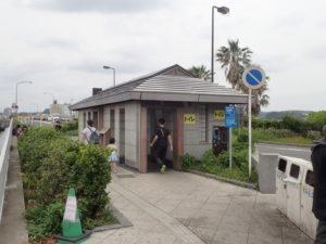 江ノ島大橋:江の島弁天橋そばの多機能トイレ