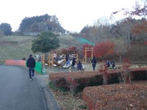 宮ヶ瀬クリスマス会場イルミネーションと遊具