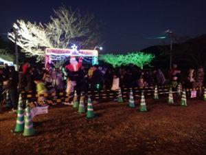 宮ヶ瀬クリスマス会場イルミネーション:ミーヤ号のりば