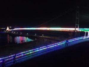 宮ヶ瀬:大吊橋(イルミネーション)