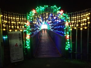 宮ヶ瀬大つり橋(イルミネーション点灯)