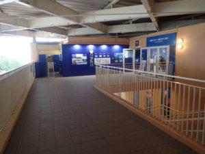 新江ノ島水族館:2Fロッカー前通路