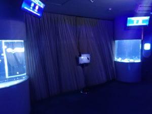 新江ノ島水族館:クラゲファンタジーホール クラゲショー開催中の扉
