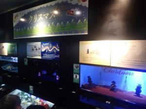 新江ノ島水族館:クリスマス展示物