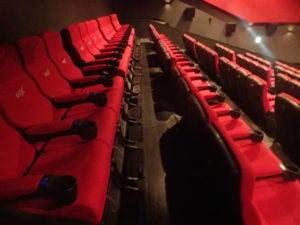 コロナシネマワールド4DX:ポップコーンと座席