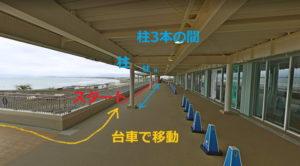 新江ノ島水族館:ペンギンのおさんぽスタート位置図
