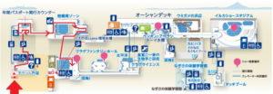 新江ノ島水族館:相模湾大水槽1Fからの地図