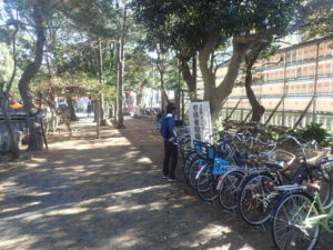 平塚八幡宮:自転車・二輪バイク駐輪場