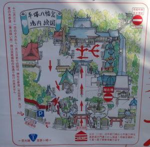平塚八幡宮:参拝順路